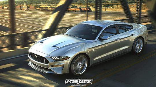 Štvordverový Ford Mustang ako ďalší variant? Takto by mohol vyzerať