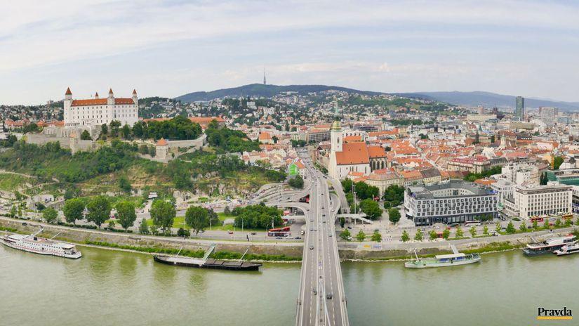 mesto, bratislava, panorama, centrum, dunaj,...