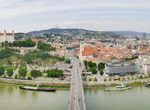 mesto, bratislava, panorama, centrum, dunaj, sky walking, most s