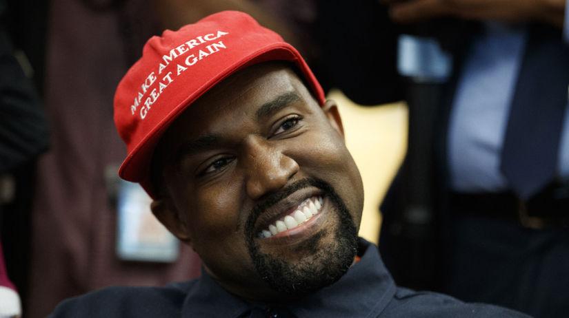 Raper Kanye West počas návštevy Oválnej pracovne.