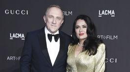 Finančník Francois-Henri Pinault a jeho manželka - herečka Salma Hayek nechýbali.