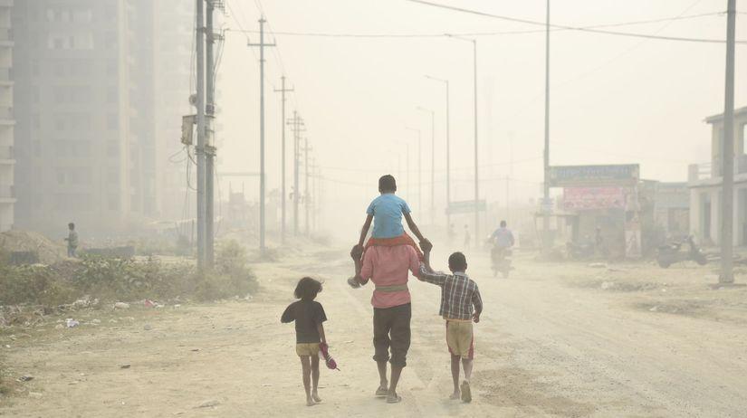india, smog, dym, prach, znečistenie