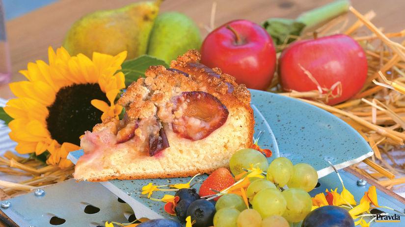 Slivkový koláč smrvenicou agaštanovým pyré