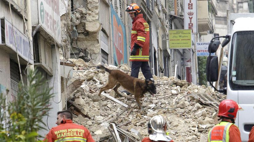 Francúzsko Marseille budovy zrútenie