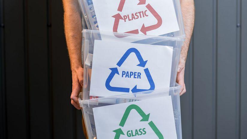 odpad, triedenie odpadu, plasty, papier, sklo
