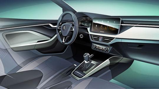 Škoda Scala: Nový hatchback odhaľuje interiér. Bude mať veľké displeje