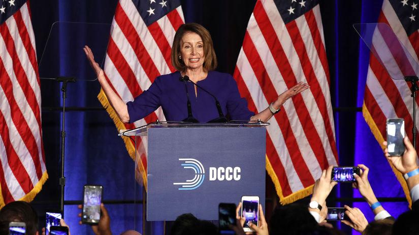 USA, voľby, Snem, senát, Nancy Pelosi