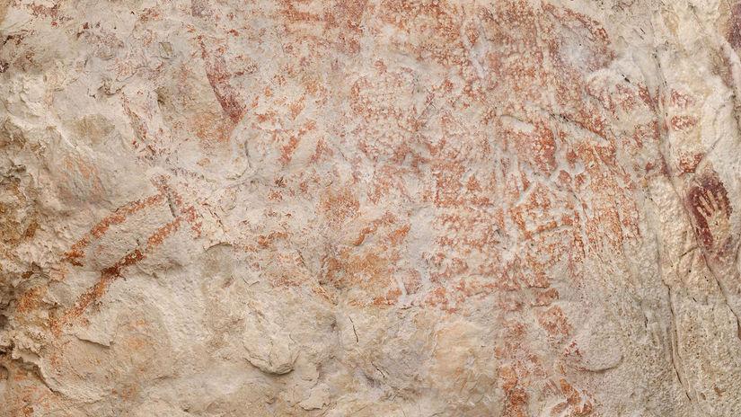 býk, jaskyňa, maľba, Indonézia, Borneo