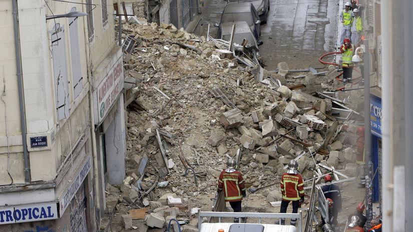 Francúzsko Marseille budova zrútenie