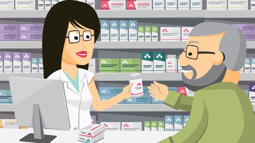 pacient, lekáreň, liek