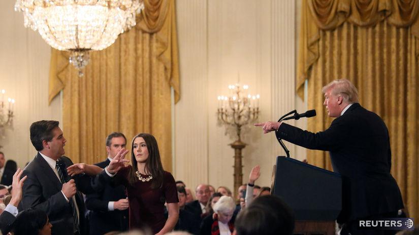 Trump, Jim Acosta, CNN, reportér, Biely dom,...