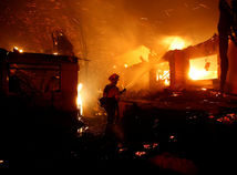 požiar, kalifornia, usa, amerika, hasič, oheň