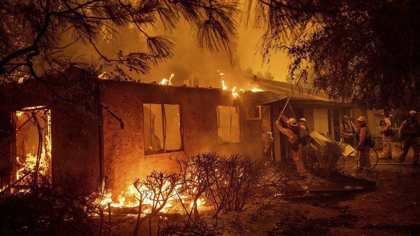 Kalifornia, požiar, Paradise