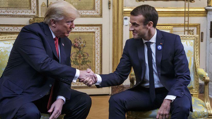 Francúzsko Paríž Trump Macron 100. výročie...