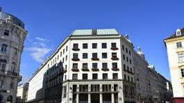Loosov dom na Michaelerplatz vo Viedni
