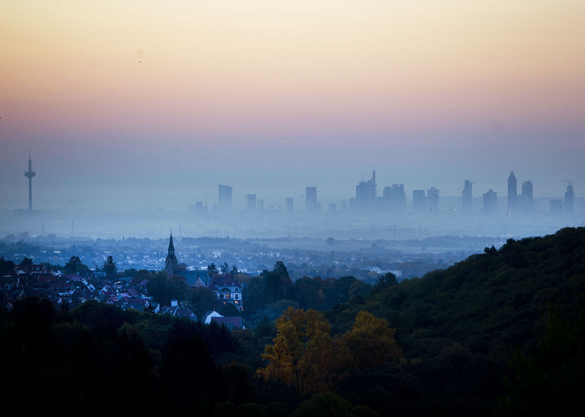 hmla, mesto, Frankfurt, Nemecko