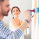 práca, stavba, maľovanie, interiér, stavebné sporenie, hypotéka