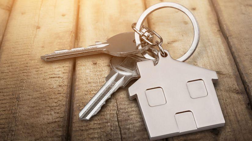 kľúče, nehnuteľnosť, dom, byt, hypotéka