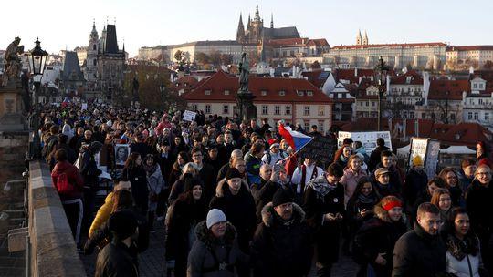 Česko Babiš demonštrácia demisia praha, protest, odstúpenie
