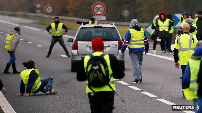 francúzsko, demonštrácia, protest, žlté vesty,...