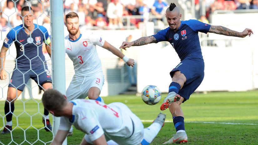 futbal Slovensko česko hamšík