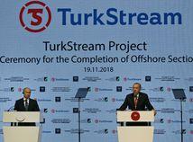 Turecko, Rusko, plynovod, TurkStream, otvorenie