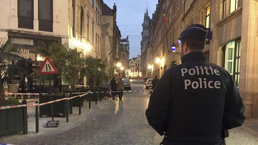 Belgicko Brusel polícia azylant útok nožom