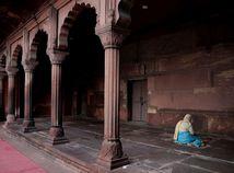 India, moslimka, chrám, modlitba, mešita, Nové Dillí