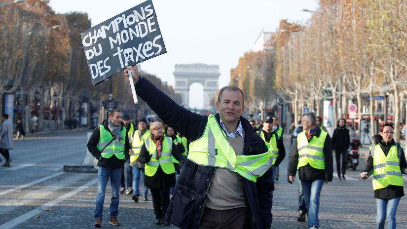 francúzsko, blokáda, protest, demonštrácia,...