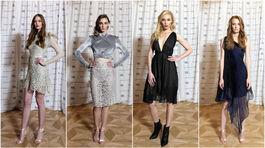Modelky na prehliadke dizajnérky Michaely Ľuptákovej.
