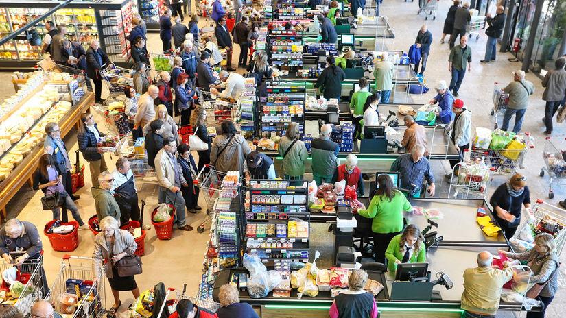 potraviny, nákupy, supermarket