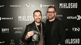Dizajnéra Fera Mikloška prišiel podporiť aj moderátor Bruno Ciberej.