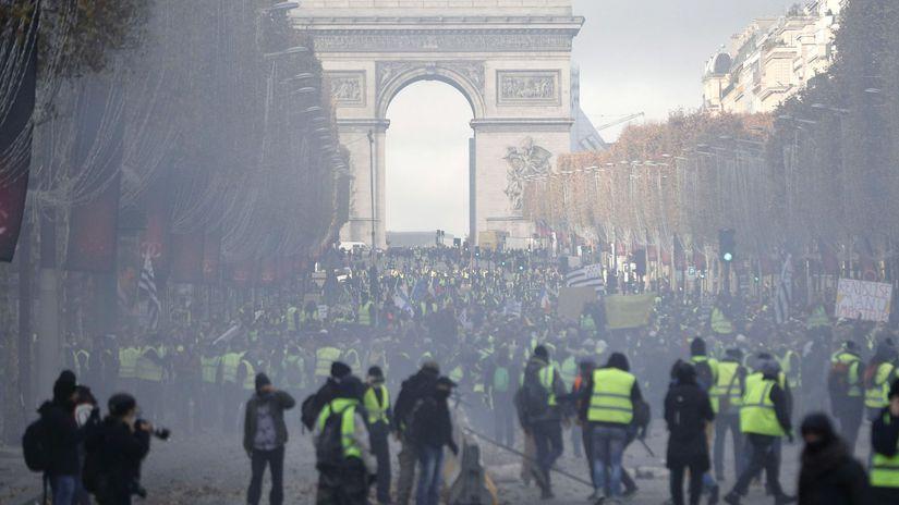 paríž, protest