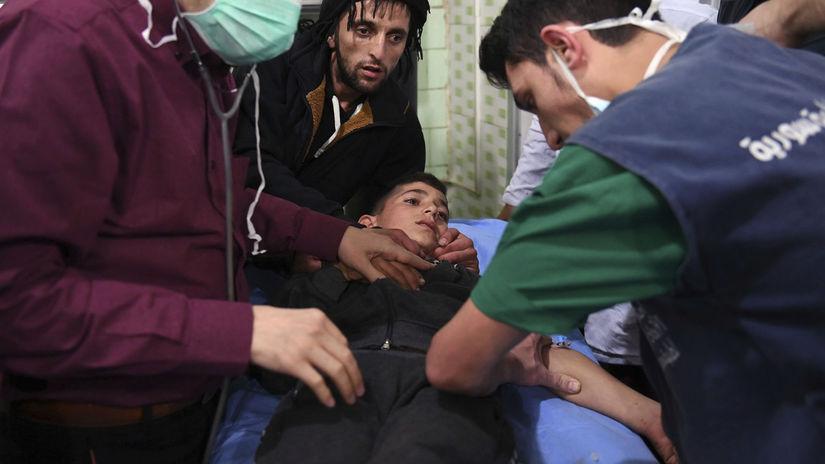 Syria, aleppo, chemický útok