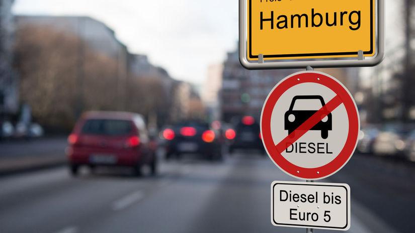 diaľnica, naftové autá, emisie