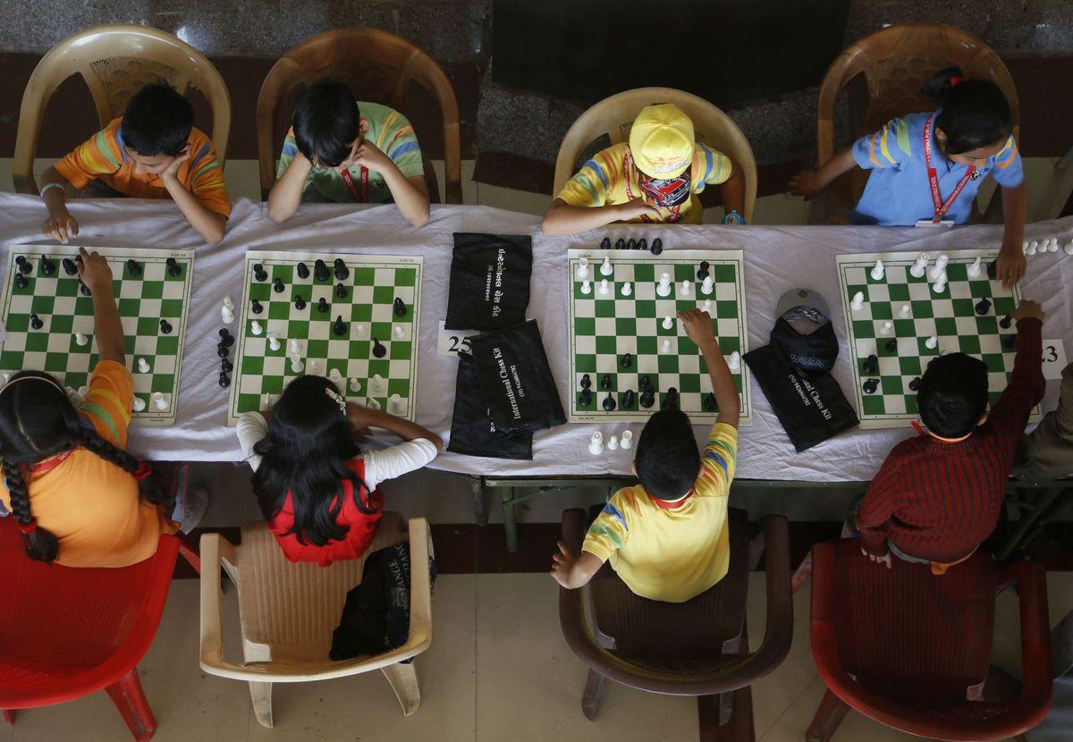 India, Kašmír, šach