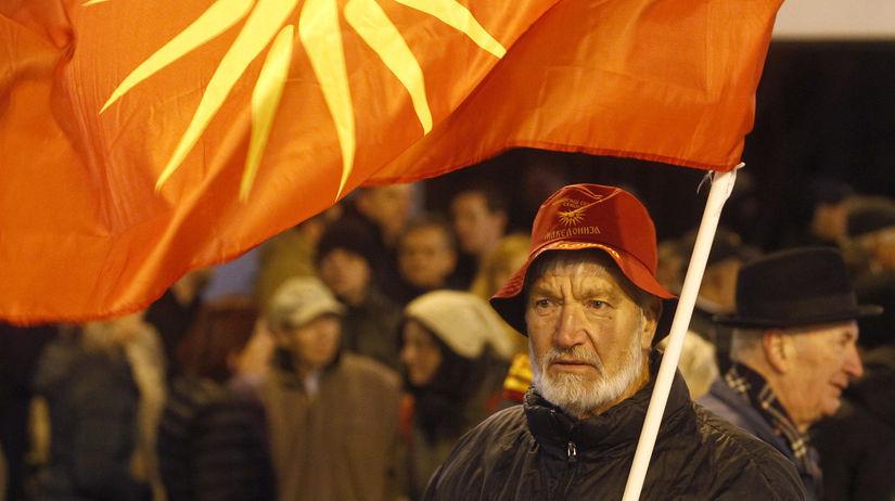 macedónsko, skopje, protest, demonštrácia