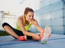 strečing, tréning, žena, cvičenie
