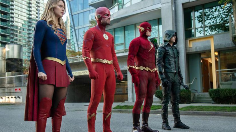 arrow, the flash, supergirl, crossover,