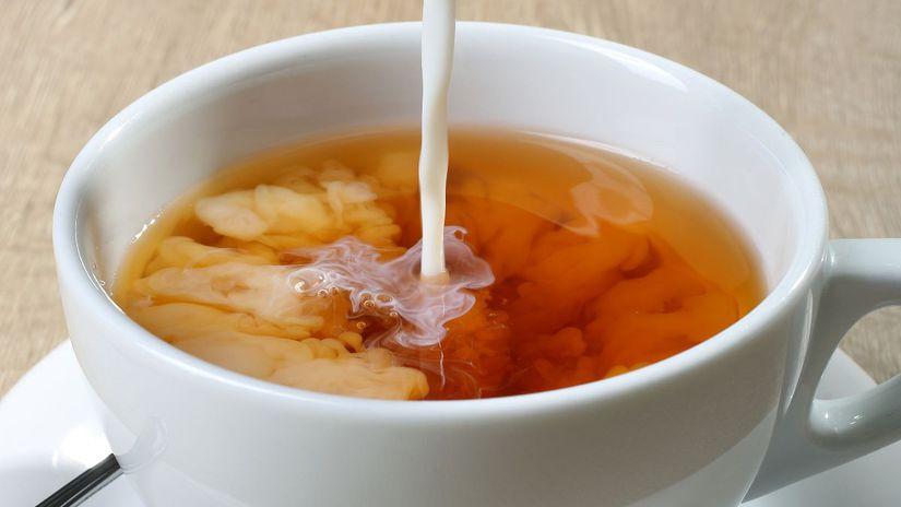 čaj s mliekom