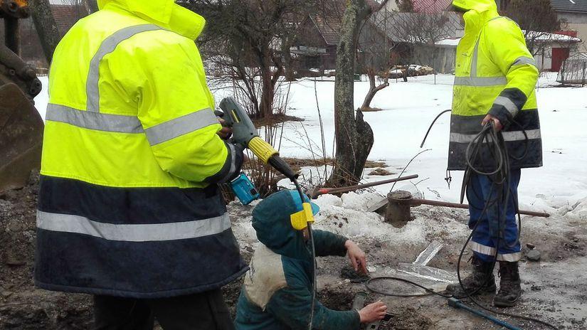 Rozmrazovanie vodovodných prípojok, potrubie