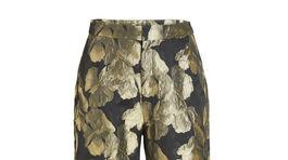 Dámske nohavice s brokatovým dezénom Lindex, predávajú sa za 39,99 eura.