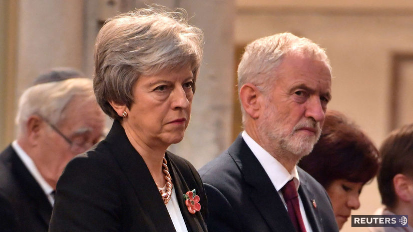 Theresa Mayová, Jeremy Corbyn, brexit