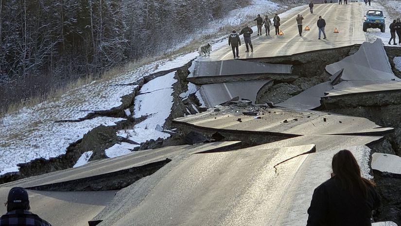aljaška, zemetrasenie