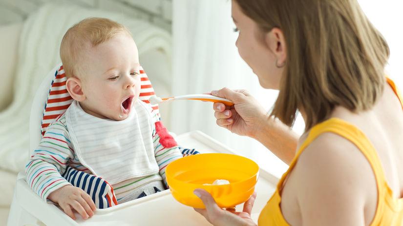 dieťa, strava, batoľa, príkrm, kŕmenie, mama,...