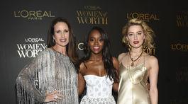 Andie MacDowell, Aja Naomi King a Amber Heard