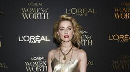 Herečka Amber Heard.