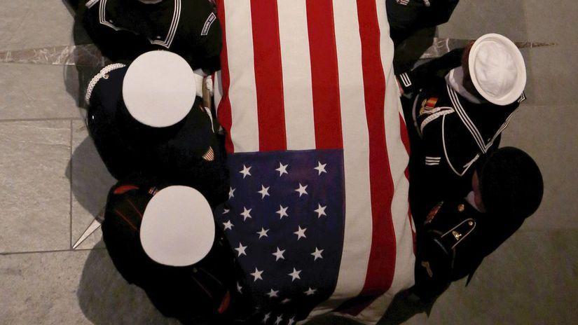 USA Houston George H.W. Bush rozlúčka