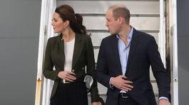 Vojvodkyňa Kate z Cambridge a princ William prileteli na Cyprus.