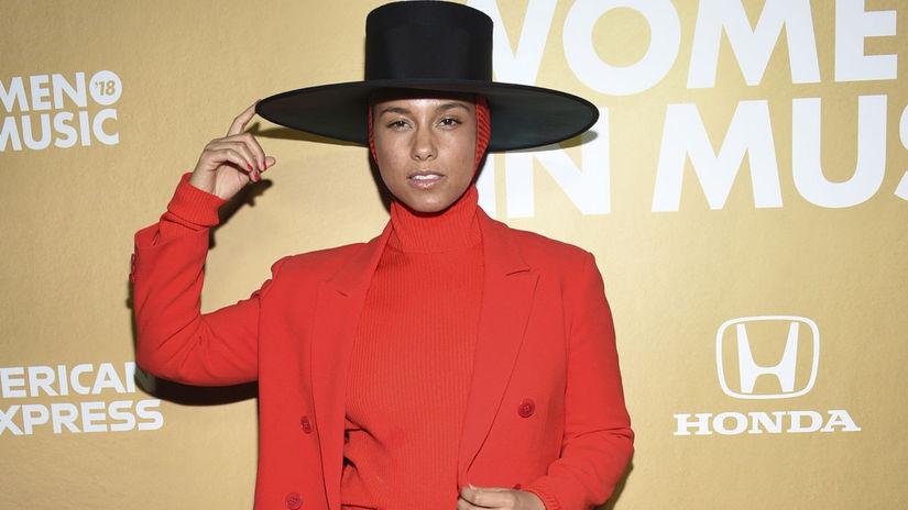 Speváčka Alicia Keys.